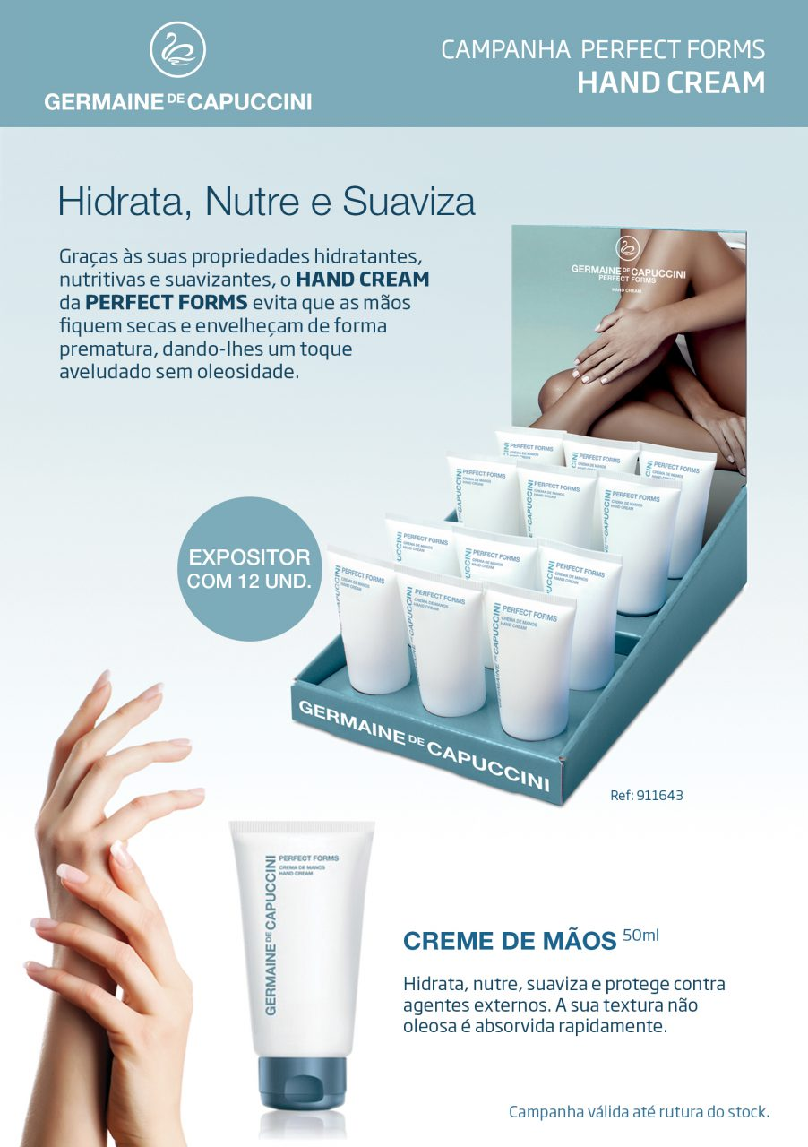 campanha perfect forms hand cream