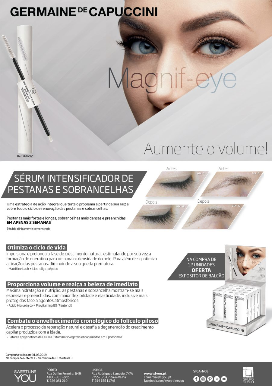 Sweet Line You,Black Week,Germaine de Cappucini,Campanha Magnif-eye – Germaine de Capuccini